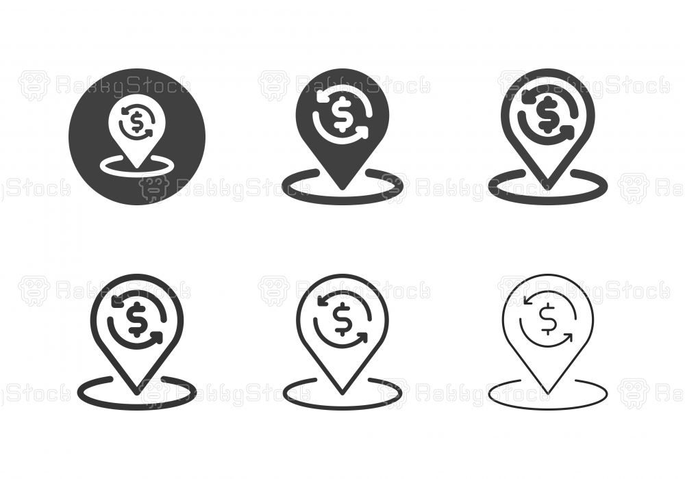 Financial Location Icons - Multi Series