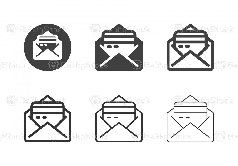 Credit Envelope Icons - Multi Series