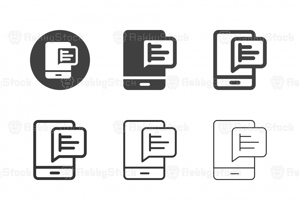 Mobile Graph Icons - Multi Series