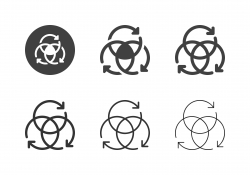 Arrow Circle Icons - Multi Series