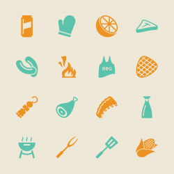 Barbecue Icons - Color Series | EPS10