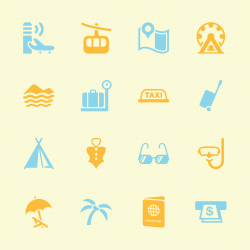 Travel and Vacation Icons 2 - Color Series | EPS10