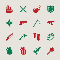 Weapon Icons - Color Series | EPS10