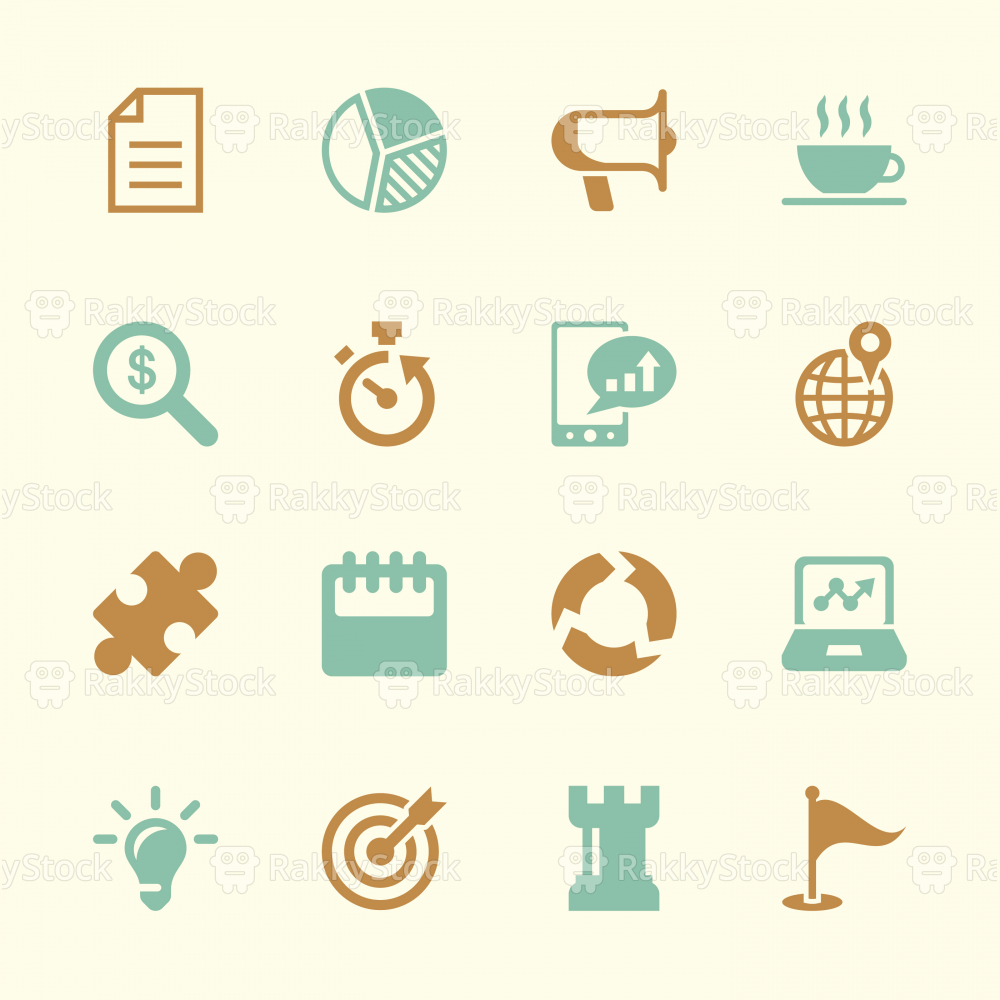 Business Strategy Icons - Color Series | EPS10