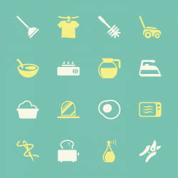 Housekeeping Icons - Color Series | EPS10
