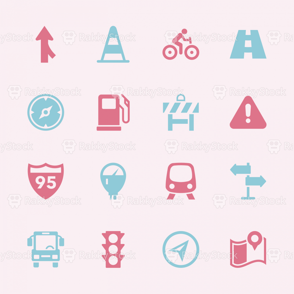 Traffic Icons - Color Series | EPS10