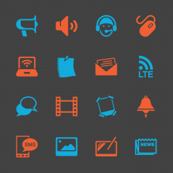 Communication Icons Set - Color Series | EPS10