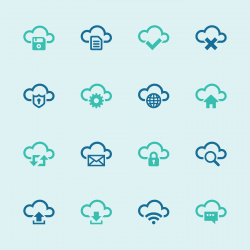 Cloud Computing Icons Set - Color Series | EPS10