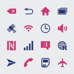 Smartphone Interface Icons - Color Series | EPS10
