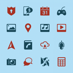 Smartphone Functions Icons - Color Series | EPS10