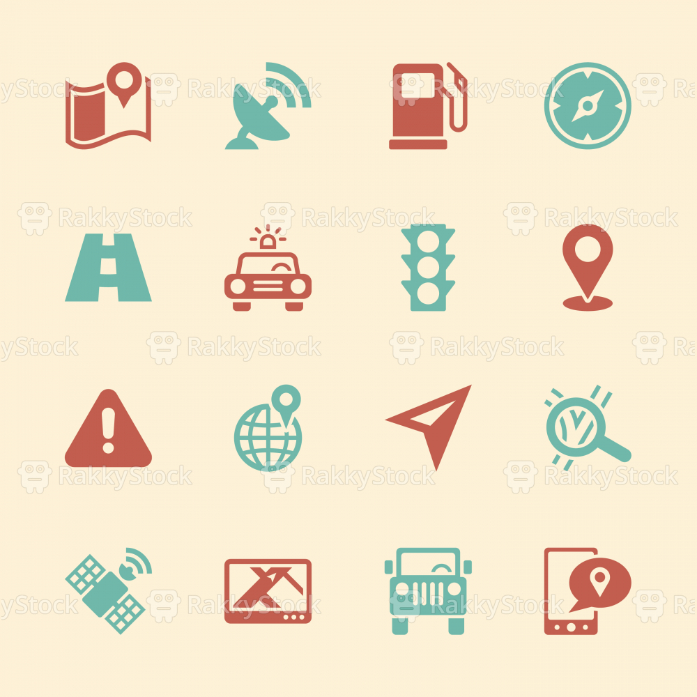 GPS Icons - Color Series | EPS10