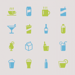 Beverage Icons - Color Series | EPS10