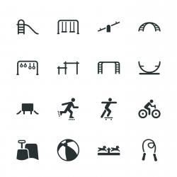 Playground Silhouette Icons