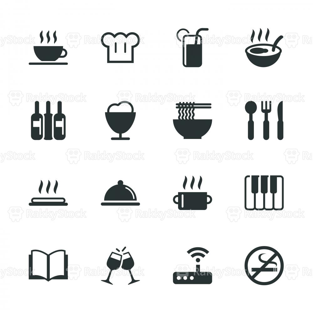 Restaurant Silhouette Icons | Set 2