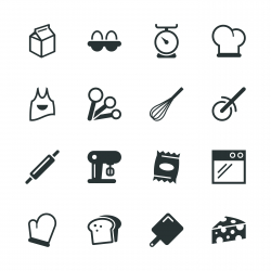 Baking Silhouette Icons