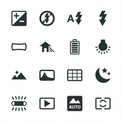 Camera Menu Silhouette Icons | Set 4