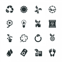 Ecology Silhouettes Icons