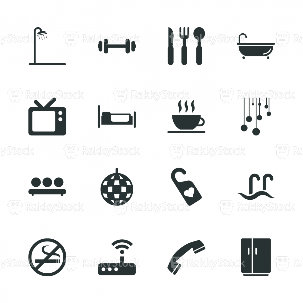 Hotel Silhouette Icons | Set 2