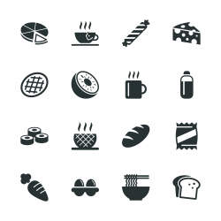 Eating Silhouette Icons | Set 2