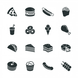 Fast Food Silhouette Icons