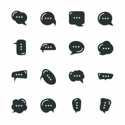 Speech Bubble Silhouette Icons