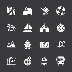Travel and Vacation Icons 3 - White Series | EPS10