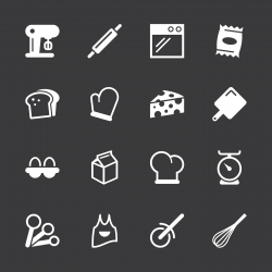 Baking Icons - White Series | EPS10