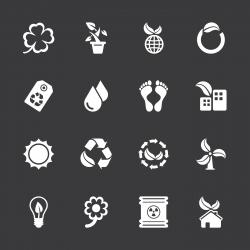 Ecology Icons - White Series   EPS10