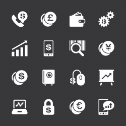 Finance and Trading Icons - White Series | EPS10