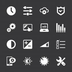 Settings Icons - White Series | EPS10