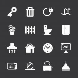 Home Icons - White Series | EPS10