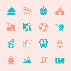 Travel and Vacation Icons 3 - Color Series | EPS10
