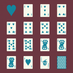 Heart Suit Playing Card Icons - Color Series | EPS10