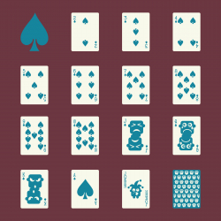Spade Suit Playing Card Icons - Color Series | EPS10