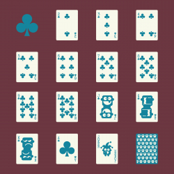 Club Suit Playing Card Icons - Color Series | EPS10
