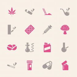 Narcotics and Drugs Icons - Color Series | EPS10