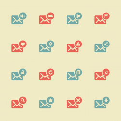 Email Icons - Color Series | EPS10