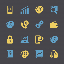 Finance and Trading Icons - Color Series | EPS10