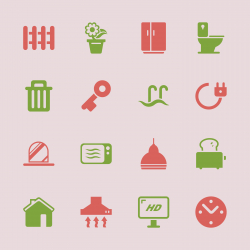 Home Icons - Color Series | EPS10