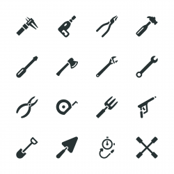 Tool Silhouette Icons