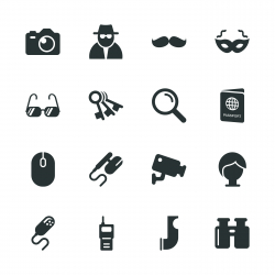 Spy Silhouette Icons
