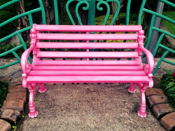 Pink Bench in the garden
