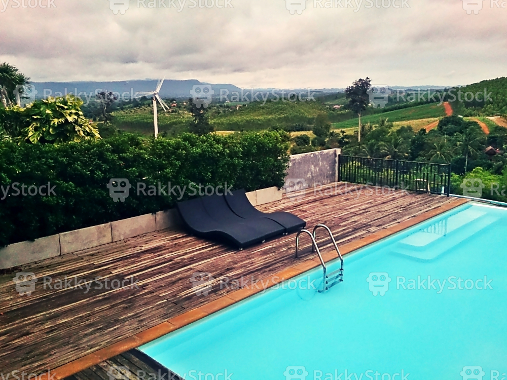 Swimming Pool With Mountain View