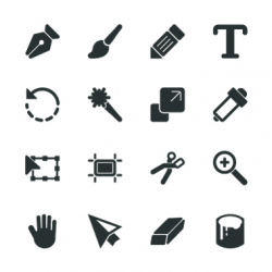 Design Tools Silhouette Icons