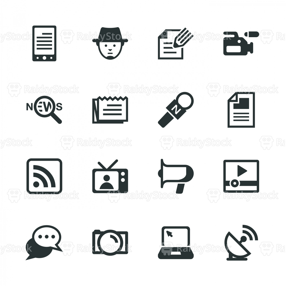Reporter Silhouette Icons