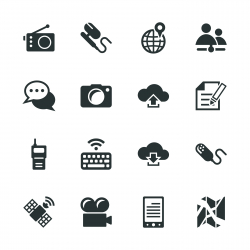 Communication Silhouette Icons | Set 4
