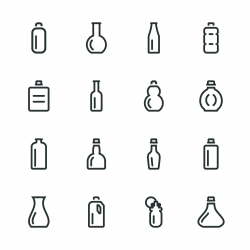 Bottle Silhouette Icons