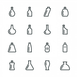 Bottle Silhouette Icons | Set 2