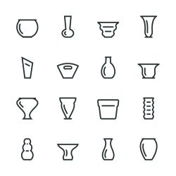 Vase and Pot Silhouette Icons | Set 1