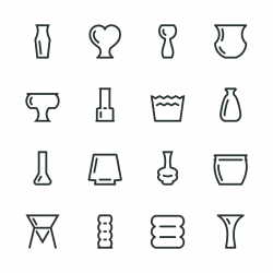 Vase and Pot Silhouette Icons | Set 2